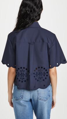 Jason Wu Cropped Short Sleeve Shirt
