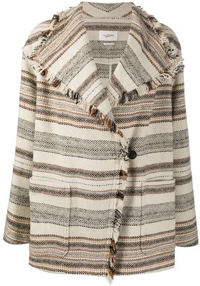 Etoile Isabel Marant Double-Breasted Stripe Pattern Coat