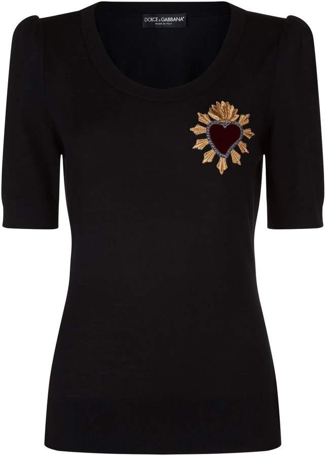 Dolce & Gabbana Embroidered Heart Sweater