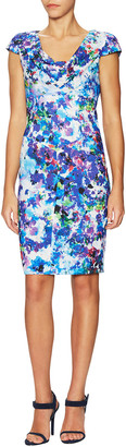 Black Halo Gretchen Print Cap Sleeve Sheath Dress