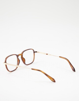 Quay Grounded womens blue light glasses in brown