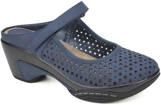Rialto by White Mountain Adjustbale Clog Mules- Vinto