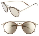 Oliver Peoples Women's Remick 50Mm Brow Bar Sunglasses - Beige