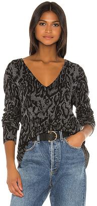 Pam & Gela Ocelot V Neck Sweater