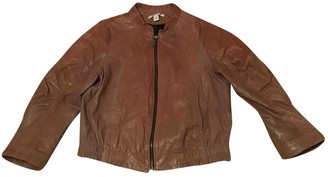 Kenneth Cole Brown Leather Coat for Women