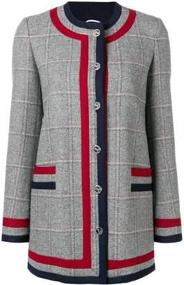 Thom Browne Frame Detail Hunting Tweed Jacket