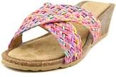 Bella Vita Pavia Women Open Toe Leather Wedge Sandal.