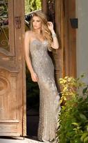 Scala 48707 Beaded Strapless Sweetheart Prom Dress