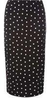 Dorothy Perkins Womens **Tall Black Spot Tube Skirt- Black