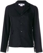 Comme des Garcons side zip blazer - women - Cupro/Wool - S