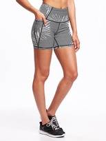 Old Navy Go-Dry High-Rise Side-Pocket Compression Shorts for Women