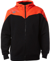 Fox Orange & Black Krono Sherpa-Lined Zip-Up Jacket