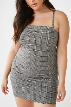 Forever 21 Plus Size Glen Plaid Mini Dress