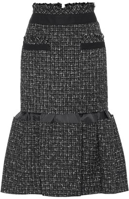 Sacai Tweed midi skirt