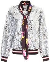 MSGM Sequins Bomber Jacket