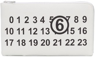 MM6 MAISON MARGIELA Logo Print Clutch Bag