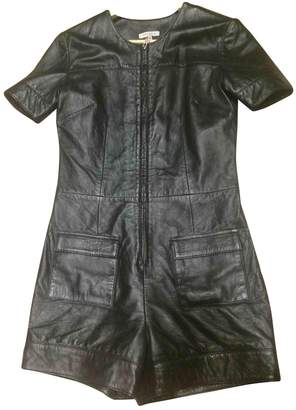 Surface to Air Black Leather Jumpsuits