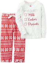 Carter's 2-Pc. Santa's Checklist Pajama Set, Little Girls (2-6X) & Big Girls (7-16)