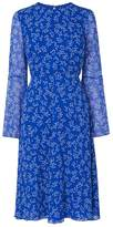 LK Bennett Cecily Blue Silk Printed Dress