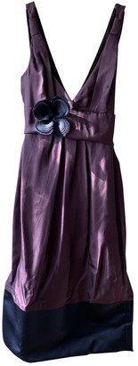Vera Wang Purple Silk Dress for Women