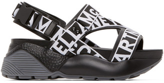 Stella McCartney Black and White Eclypse Logo Sandals