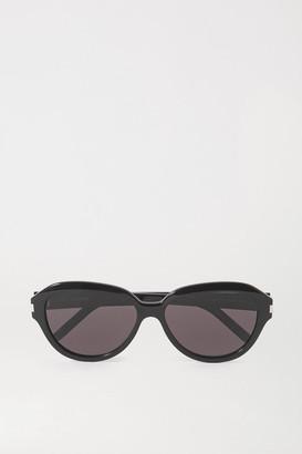 Saint Laurent Round-frame Acetate Sunglasses - Black