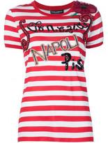 Dolce & Gabbana embellished striped T-shirt