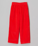 Flap Happy Cherry Red Corduroy Pants - Infant, Toddler & Boys