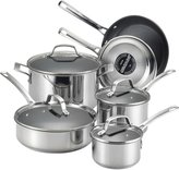 Circulon Genesis Stainless Steel Nonstick 10-Piece Cookware Set - 8 - 10 pc