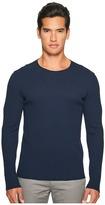 Vince Raw Edge Solid Long Sleeve T-Shirt Men's T Shirt