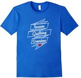 Men's Awesome Quilting Grandma T-shirt Quilter Gift Tee Large