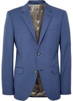 Alexander McQueen Cobalt Slim-Fit Wool and Mohair-Blend Suit Jacket