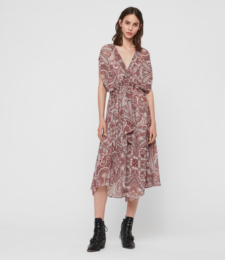 AllSaints Romina Scarf Dress