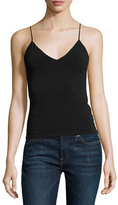 Alice + Olivia Delray Fitted V-Neck Tank, Black