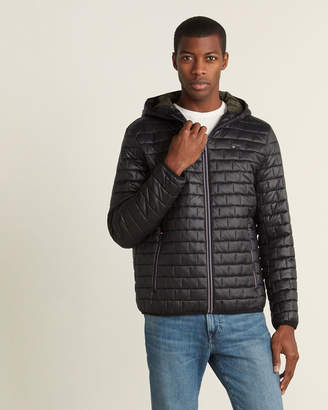 Tommy Hilfiger Box Quilt Hooded Packable Jacket