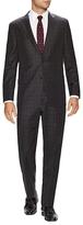 Hickey Freeman Wool Plaid Notch Lapel Suit