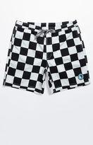 T&C Surf Designs Checker Print Drawstring Volley Shorts
