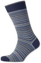 Blue Multi Fine Stripe Socks Size Large