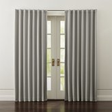 Crate & Barrel Wallace Grey Blackout Curtains