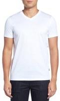 BOSS Teal 14 Slim Fit Mercerized Cotton T-Shirt