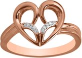 Jessica Simpson Fashion Heart Diamond Accent Ring in 10k Rose Gold