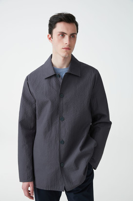 Cos Padded Shirt With Topstitching