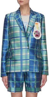 Mira Mikati Check Double Breasted Jacket