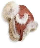 Crown Cap Paul Leinburd Coyote Fur Aviator Hat