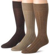Dockers 3 Pack Classics Essential Rib Crew Socks