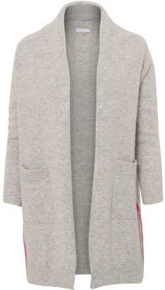 Silver Pink Boyfriend Cardigan In Grey