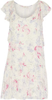 Joie Larose printed silk-chiffon mini dress