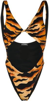 DSQUARED2 Leopard Print Swimsuit