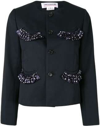 COMME DES GARÇONS GIRL Fitted Ruffled Trim Jacket