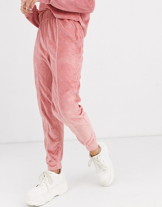 Asos DESIGN lounge velour jogger